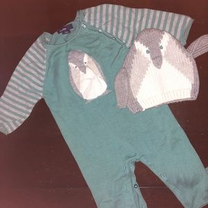 NWOT Gap Penguin One Piece with matching Hat